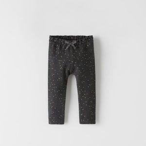 NWT 6-9 month Zara sparkly dot leggings